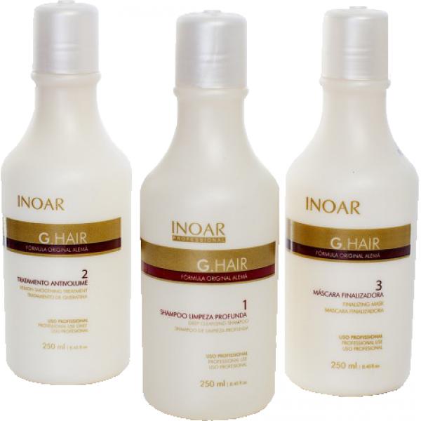 Keratin düzleştirme Inoar G-Hair, 3x250 ml set