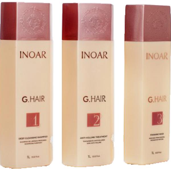 Keratin düzleştirme Inoar G-Hair Premium, 3x1000 ml